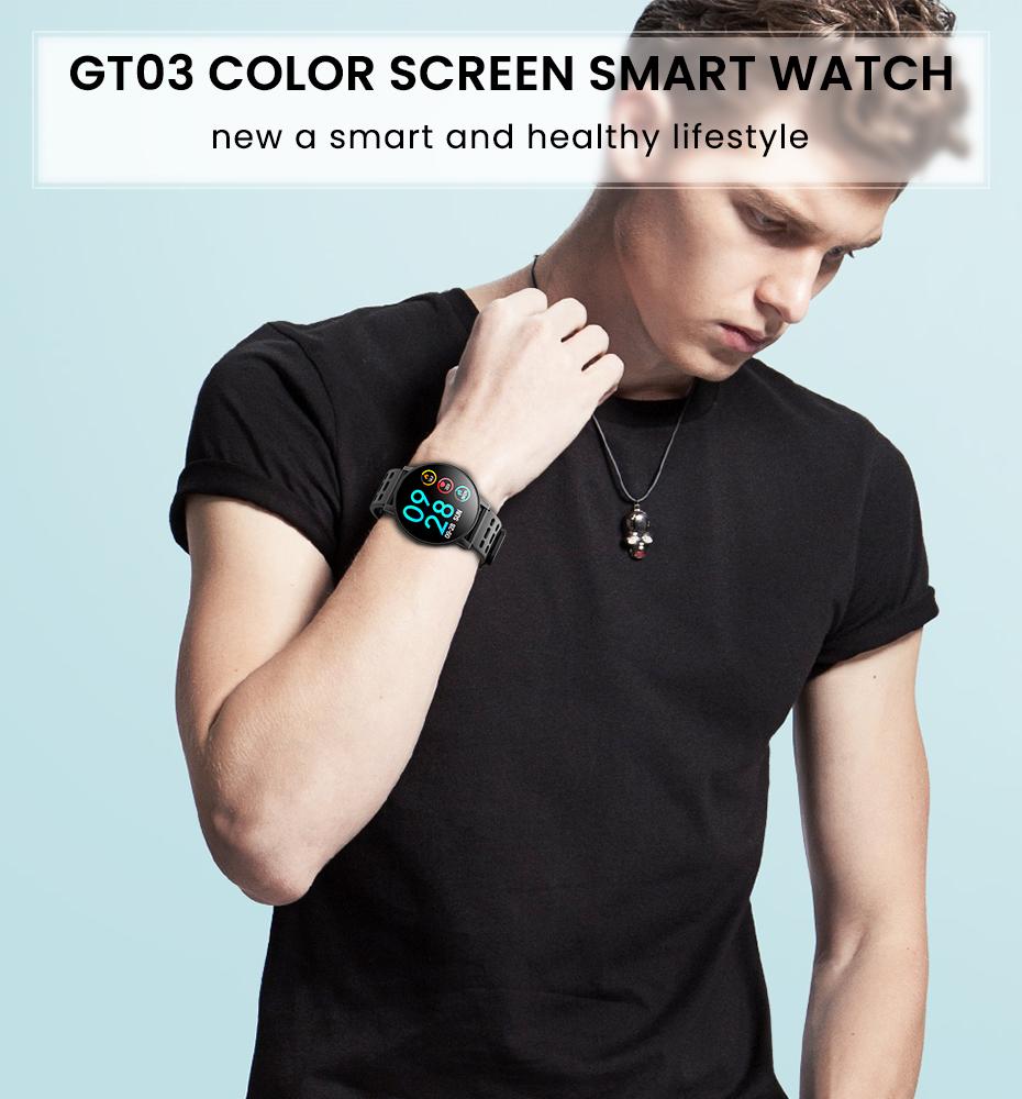 Makibes T3 IOS Android Smart Watches Men Women HR Blood Oxygen Blood Pressure IP67 Waterproof Activity Fitness Tracker PKV11 1