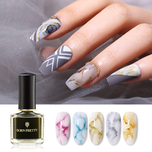 BORN PRETTY 6ml Watercolor Ink Nail Polish Gel Smoke Effect Marble Nail