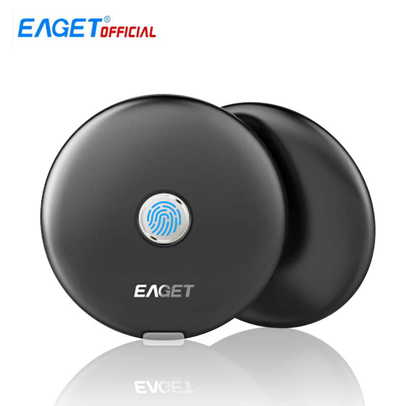 Eaget FM1 External SSD 512GB 1TB Metal Fingerprint Encrypted Hard Drive Disk Disc Solid State Drives Type-C SSD for Phone PC
