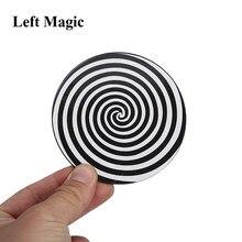 Ilusão espiral truques de magia disco plástico close up palco rua aparecendo magia adereços mentalismo ilusão gimmick acessórios