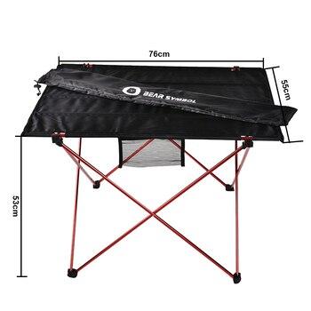 Mesa plegable ultraligera para acampar, muebles de exterior, color rojo, para pesca,...