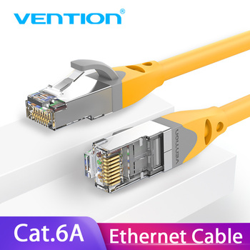 Vention Cat6A Ethernet Cable RJ45 CAT6A Lan Cable rj45 Network Ethernet Patch Cord for Computer Router Laptop Ethernet Cable 40m rj45 ethernet internet network cable blue 5 m