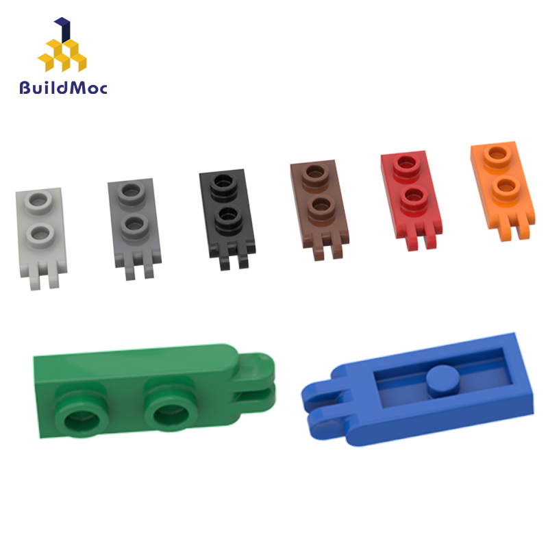 BuildMOC Assembles Particles 4276 1x2 Vintage Articulated Plate  Building Blocks Parts DIY LOGO Educational Gift Toys