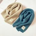 Детский шерстяной шарф в японском стиле, модный детский вязаный шарф в Корейском стиле на осень и зиму, теплые нагрудники карамельных цвето...