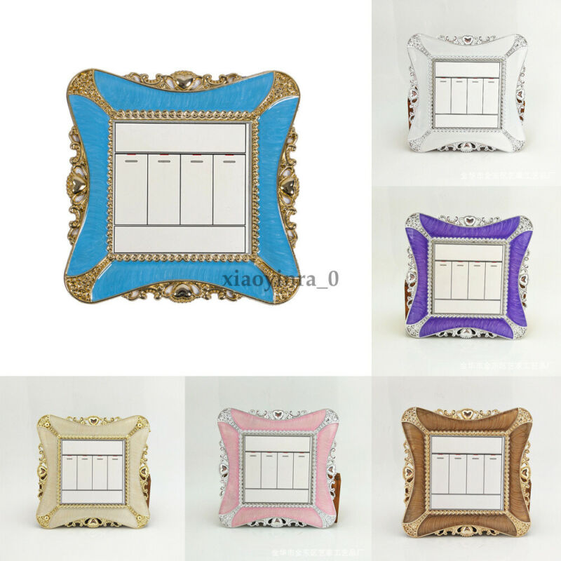 Light Switch Surround Socket Finger Plate Panel Cover Modern Decor New Switch Stickers