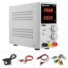 Fuente de alimentación de laboratorio K3010D para teléfono reparación, alimentador ajustable 30V 10A DC, pantalla de 4 dígitos, mini regulador de voltaje