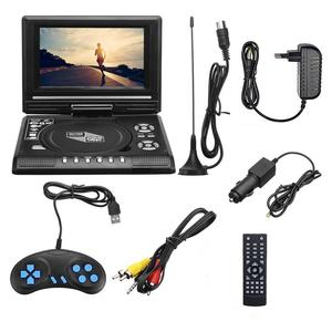 7 inch Portable DVD Player with LCD Screen Fully Compatible with MP3/FM/USB /DVD /VCD /CD Connection to TV Multimedia Player