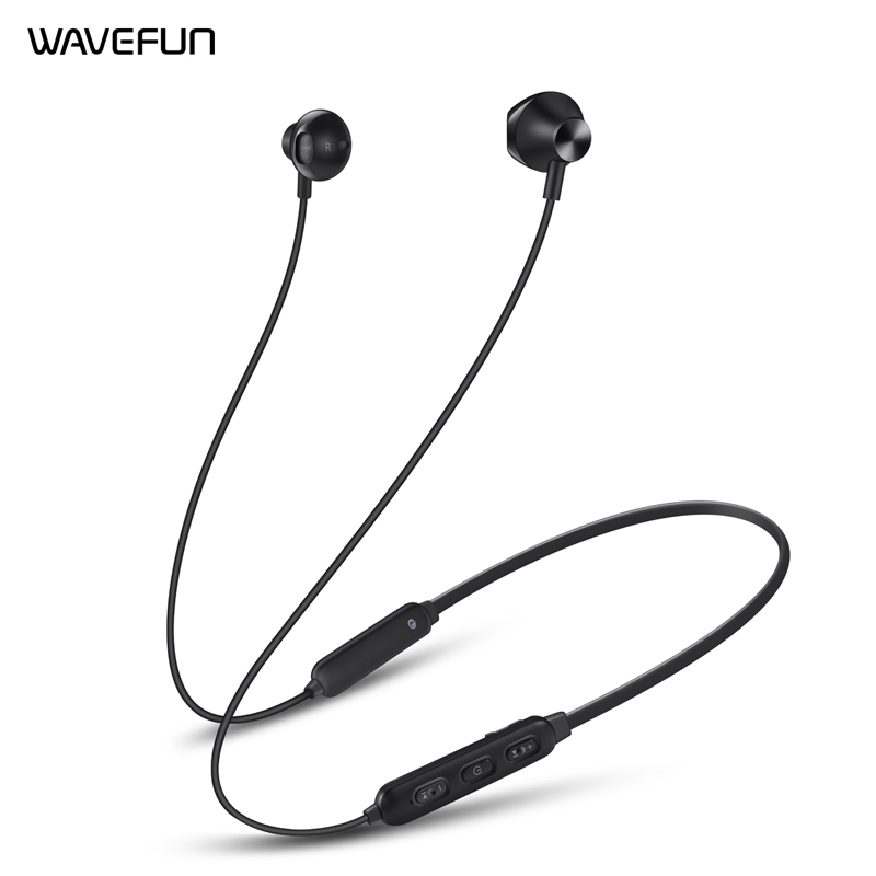 Wavefun Flex 2 Bluetooth 5.0 Earphone 15Hrs Talking Time Wireless Headphone IPX5 Waterproof for xiaomi iPhone Headset with Mic-in Phone Earphones & Headphones from Consumer Electronics on AliExpress