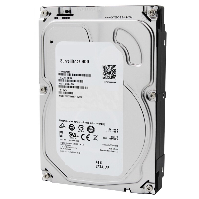 """New HDD For Seagate Brand 4TB 3.5"""" SATA 6 Gb/s 64MB 5900RPM For Internal HDD For Surveillance HDD For ST4000VX000 ST4000VM000 2"""