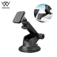 Magnetic Car Phone Holder For iPhone Xs Max XR 8 6 Telescopic Suction Cup Car Dashboard Mount Cell Mobile Phone Holder Stand