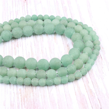 Frosted Green Tangling Natural?Stone?Beads?For?Jewelry?Making?Diy?Bracelet?Necklace?4/6/8/10/12?mm?Wholesale?Strand