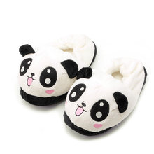 2020 nouveau Drop ShiP Mignon Yeux Panda Femmes Pantoufles Belle bande dessinée intérieur Accueil doux chaussures