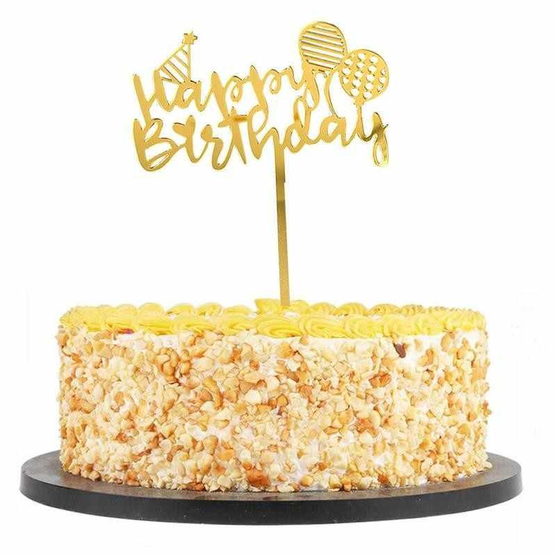 Ins акриловый Топпер для торта «С Днем Рождения», золотой черный торт для девочек на день рождения, украшение для маленьких детей, топ, вечерние DIY для мальчиков, Cak Y8Z1