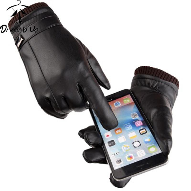 DRESSUUP Men Gloves Winter High Elastic Warm Touch Screen Plus Velvet Thickening Comfortable Riding Windproof Waterproof Screw
