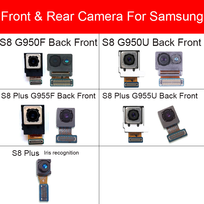 Front Small Facing Camera Module For Samsung Galaxy S8 G950F G950U S8 Plus G955F G955U Back Camera Rear Camera Flex Cable