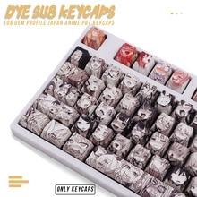 PBT 108key Ahegao Keycap Dye Sublimation OEM Profile Japanese Anime  Keycap For Cherry Gateron Kailh switch Mechanical Keyboard