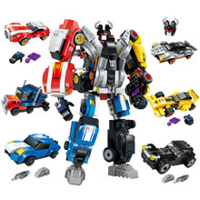 6 In 1 Mecha Transformation Robot Building Blocks Supercar Creative DIY Bricks Educational Toys For Children Legoingly Gift