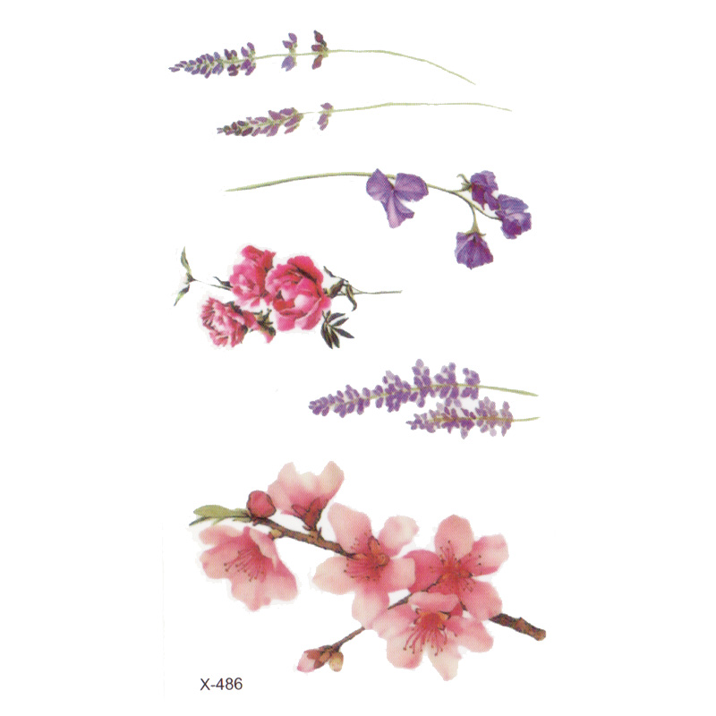 Wyuen Flower Rose Waterproof Temporary Tattoo Sticker for Adults Kids Body Art Women New Design Water Transfer Fake Tatoo P-108 3