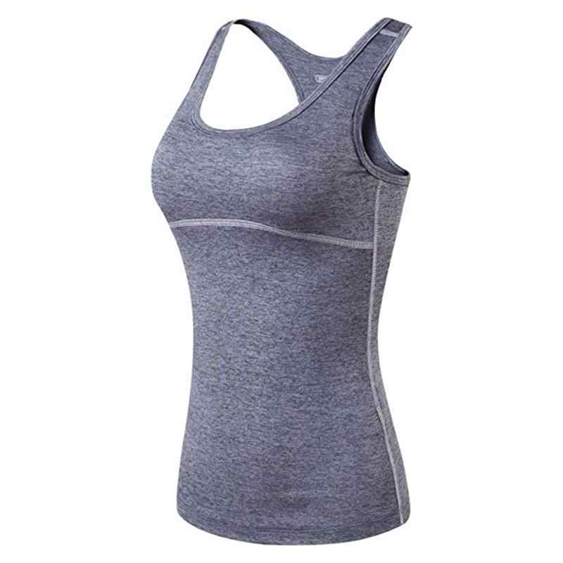 Jeansian Women's Quick Drying Slim Fit Tank Tops Tanktops Sleeveless Vest Singlet SWT238 DarkGray