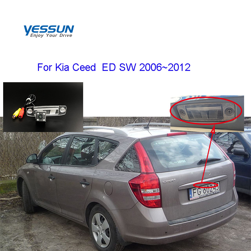 Yessun License Plate Rear View Camera For Kia Ceed SW ED 2006 2007 2008 2009 2010 2011 2012 Backup Parking Camera System
