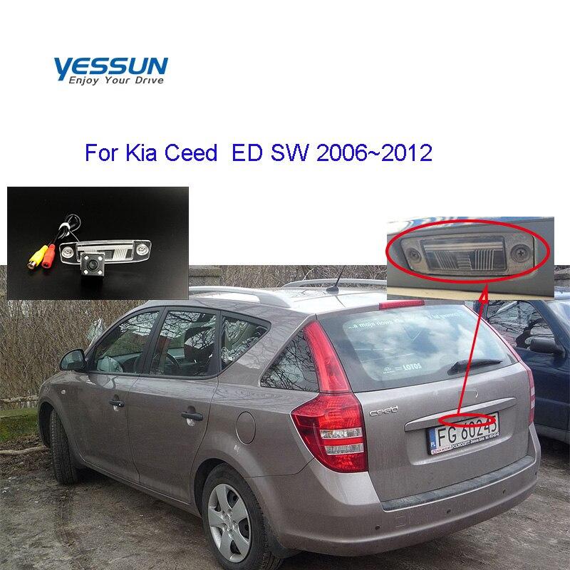 Yessun plaka arka görüş kamerası için Kia ceed SW ED 2006 2007 2008 2009 2010 2011 2012 yedekleme park kamerası sistemi