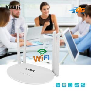 Image 3 - KuWfi 4G LTE CPE Router 300Mbps CAT4 Routers inalámbricos CPE Router Wifi desbloqueado 4G LTE FDD RJ45 Puertos y ranura para tarjeta SIM de hasta 32 usuarios