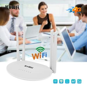 Image 3 - KuWfi 4G LTE Router 150Mbps CAT4 Wireless CPE Routers Unlocked Wifi Router 4G LTE FDD/TDD RJ45Ports&Sim Card Slot Up to 32users