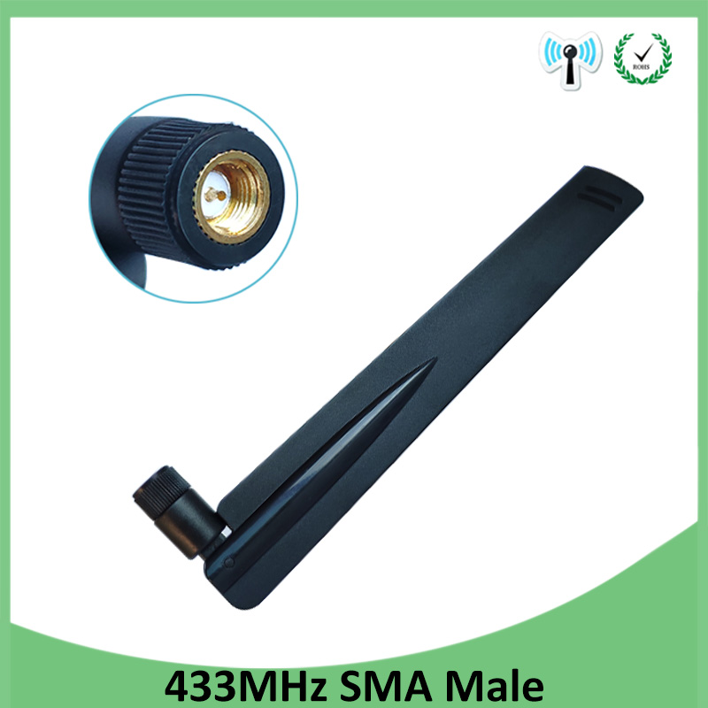 1pcs 433MHz Antenna 8dbi SMA Male Connector Folding 433 Mhz Antena Directional Antenne Wireless Receiver For Lorawan 433m