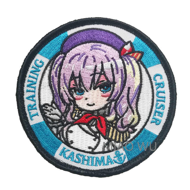 "Anime Kantai Collection Kashima Embroidered Patch Collectible Cosplay Patches Badge Applique Bag Craft Costume Accessories 3"" 4"""