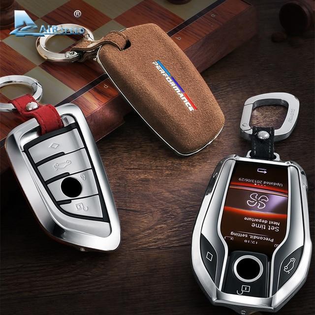 Capa para chave de carro de airspeed, cobertura para chave em carro para bmw f22 f30 f36 f10 f13 f01 f25 f26 f15 f16 f48 acessórios f39, g30, g11, g05, g01, g02