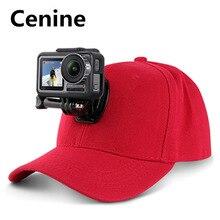 قماش قبعات بيسبول قبعة ل Gopro بطل 7 6 5 الأسود Dji Osmo J هوك مشبك جبل ل شاومي يي الذهاب برو 7 8 Sjcam Eken اكسسوارات