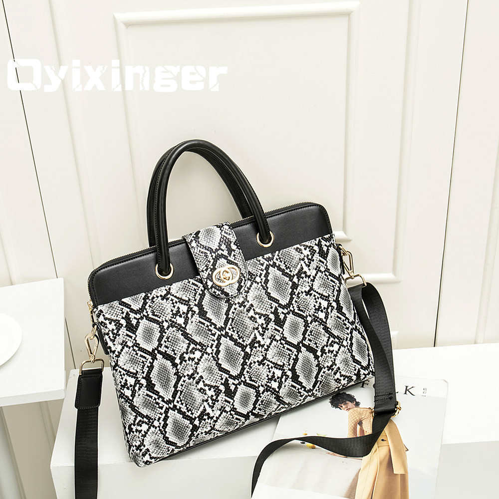 New Women Briefcases Female Shoulder Bag Luxury Handbags Business Leather Briefcase 14.1