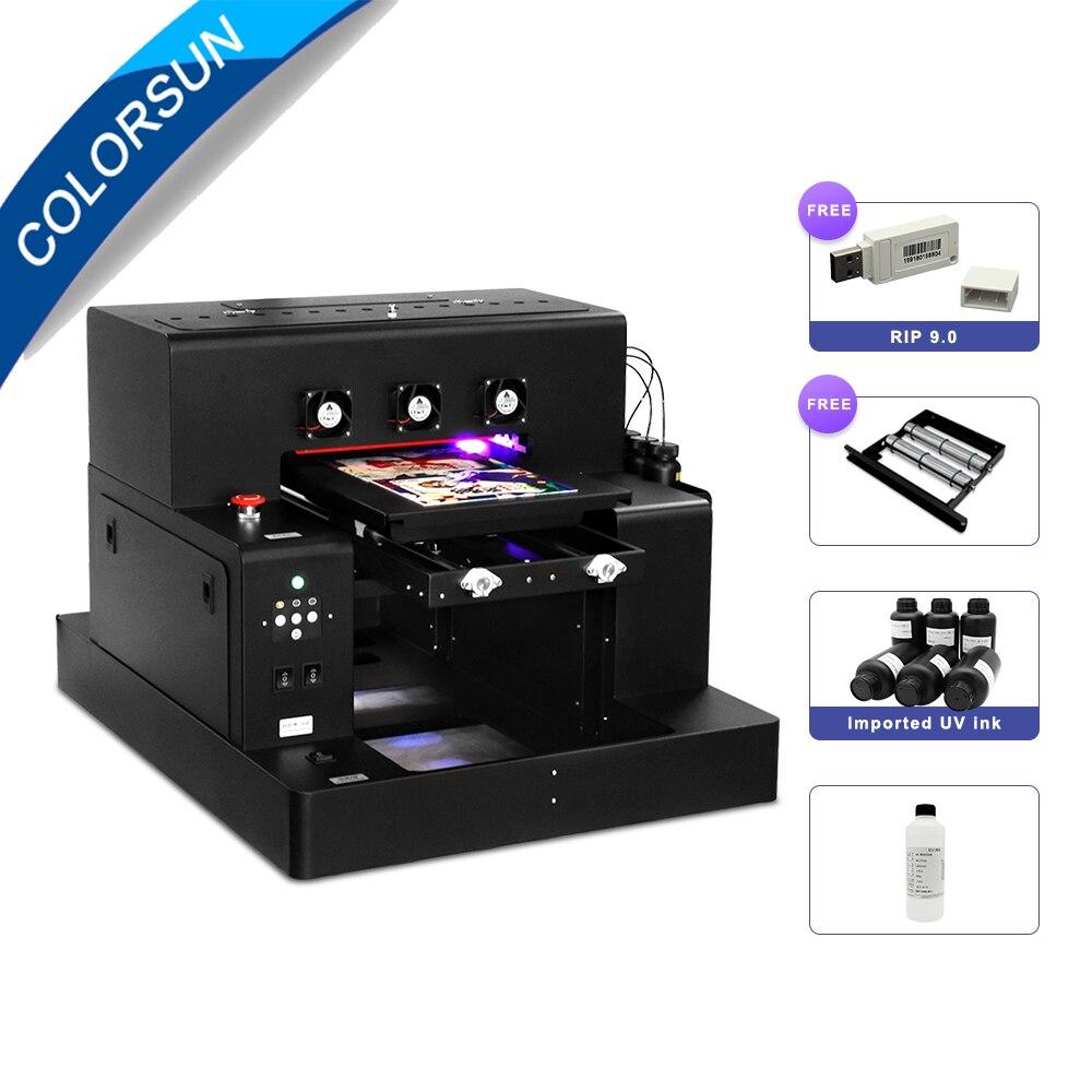 Цветной автоматический принтер L1800 A3, СВЕТОДИОДНЫЙ УФ-принтер (280*500 мм) для чехол для телефона цилиндрическая древесина, принтер для печати н...