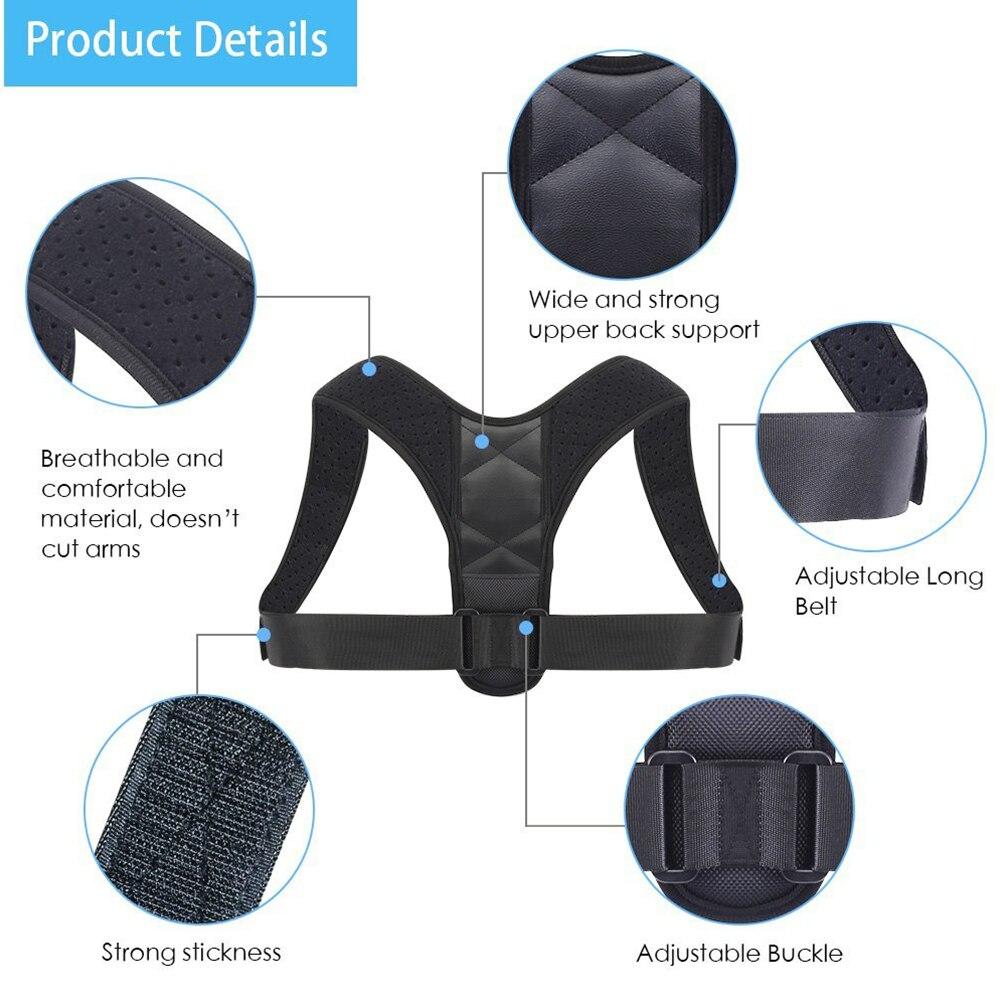 H6391b33b1ce5495883c27a6f5f51936eF - Brace Support Belt Adjustable Back Posture Corrector Clavicle Spine Back Shoulder Lumbar Posture Correction