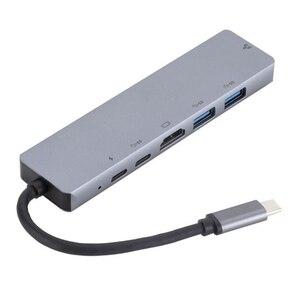 Image 5 - C tipi rj45 hdmi PD tipi C şarj portu 6 In 1 Hub Gigabit Ethernet Lan 4K mac kitap Pro için Thunderbolt 3 USB C şarj cihazı