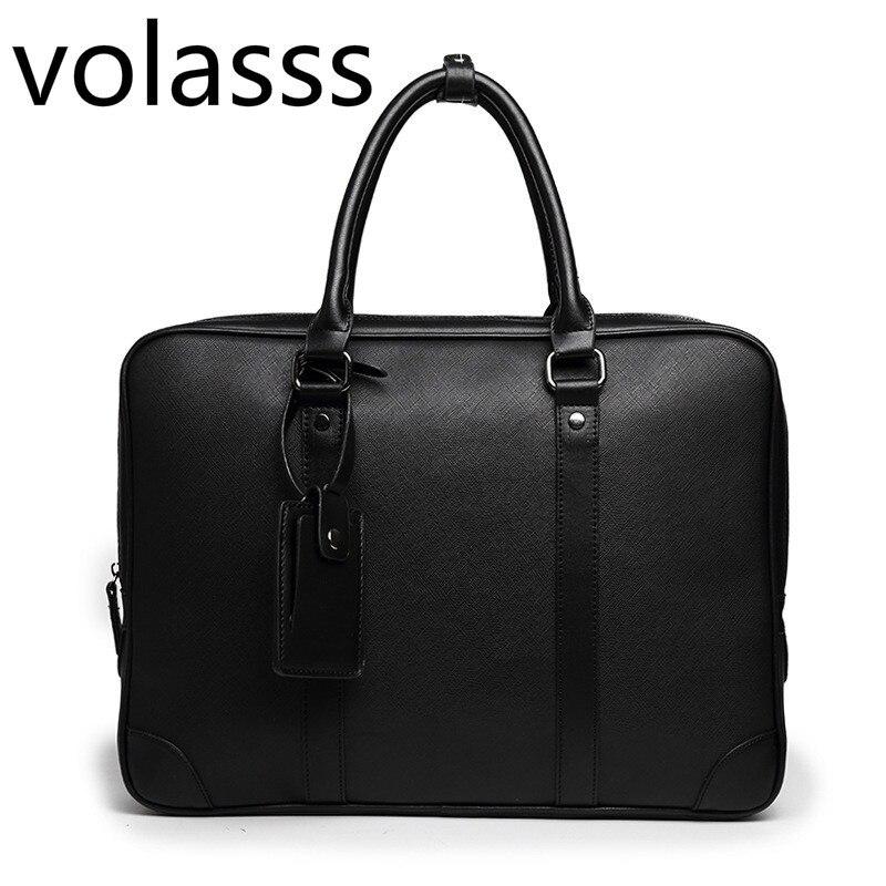 2020 Men Messenger Computer Bag Man 14-inch Leather Laptop Briefcase Handbag Single Bolso Bags Bandolera Hombre Sac Homme Women