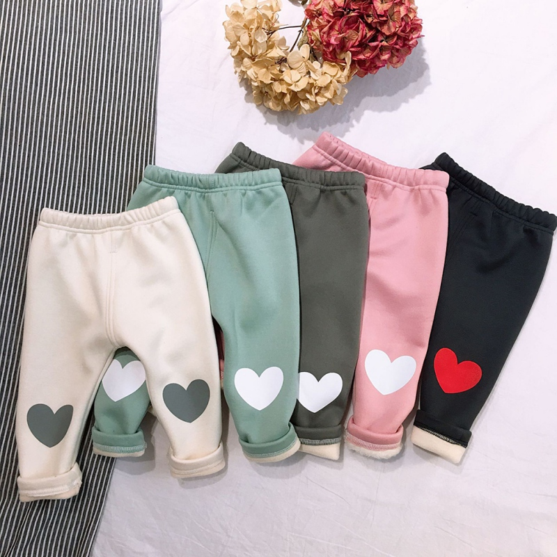 Baby Girl\'s Warm Pants Baby Casual Winter Pants Toddler Thicken Baby Leggings Trousers For Girl Kids Girls Pants Sports