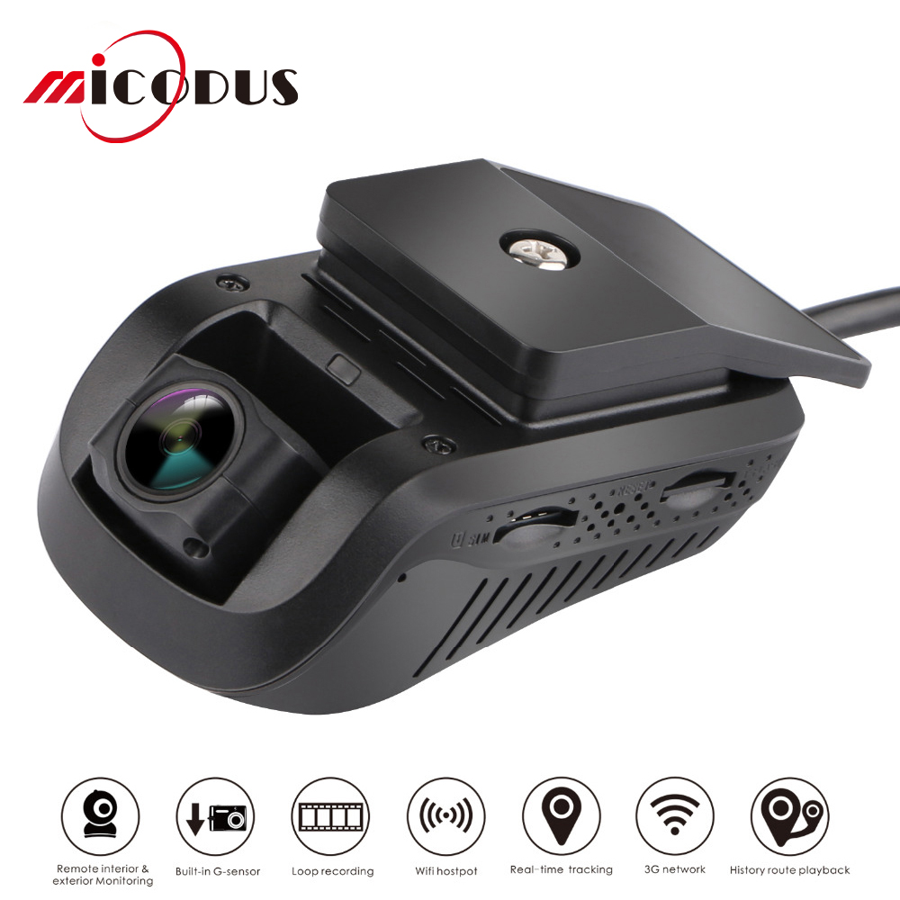 New 3G 1080P Smart GPS Tracking JC100 WIFI Dash Camera Android 5.1 Live Video Recorder Monitoring by PC Free Mobile APP Flash 8G image