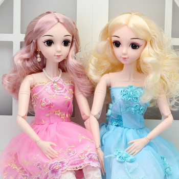 NEW 60CM Bjd Doll 22 Movable Joints Naked Nude Body DIY Handmade Makeup Large Princess Dolls With Shoes Toys For Girls Wholesale цена 2017