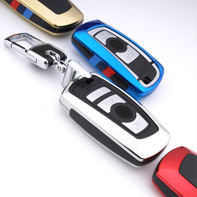 Case Kunci Mobil untuk BMW 520 525 F30 F10 F18 118i 320i 1 3 5 7Seri X3 X4 m3 M4 M5 E34 E90 E60 E36 Fob Gantungan Kunci Mobil Styling