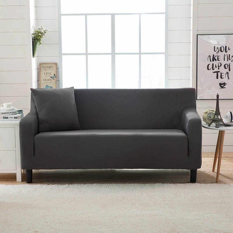 عادي اللون تمتد مقعد أريكة غطاء أريكة حامي أثاث المنزل يلتف أغطية ل كرسي كرسي كرسي 1/2/3/4 مقاعد
