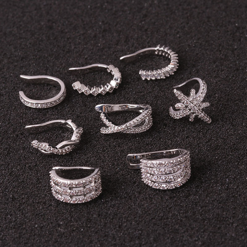 1pc Helix Cartilage Conch Fake Piercing Jewelry Adjustable Cz Ear Cuff No Piercing Conch Cuff Earring