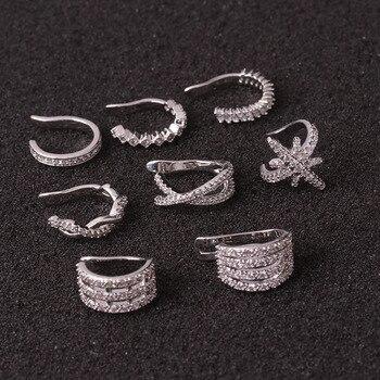 1pc Helix Cartilage Conch Fake Piercing Jewelry Adjustable Cz Ear Cuff No Piercing Conch Cuff Earring