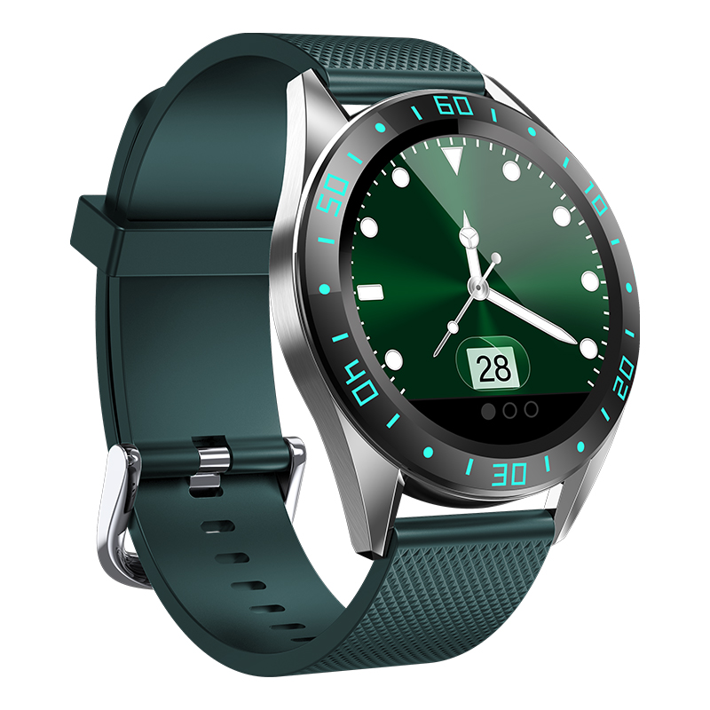 GW15右-绿 Montre intelligente IP68, montre de Fitness