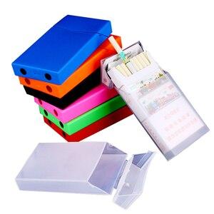 Women's Cigarette Case Holder Slim Clamshell Flip Cover Lengthen Red Pink Blue Green Plastic Cigarette Box For Lady Girlfriend