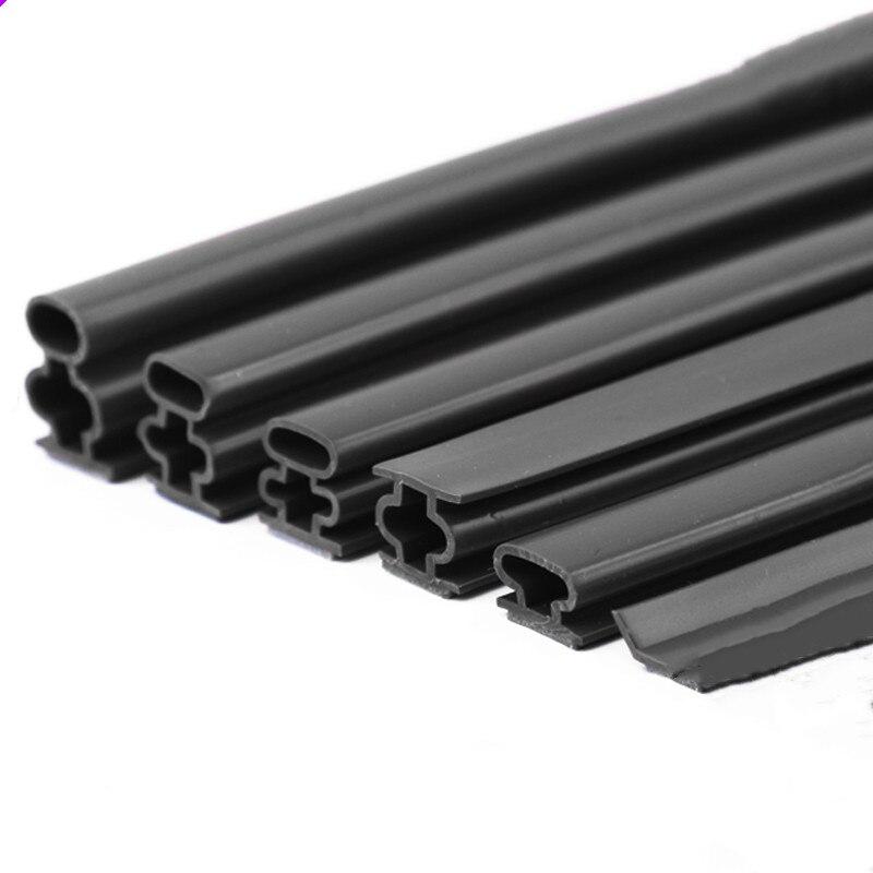 Buy Cheap 1/6m Silicone Rubber Sealing Strip Door Window Sound Insulating Strip Self-adhesive Tape 10x1/6/8/10/12/15mm Window Hardware