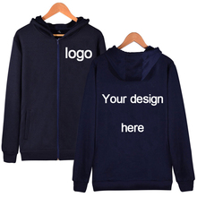 Custom pattern zipper hoodies DIY customize for you hooded fashionable hoody