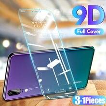 3-1 unidades de vidro temperado de tampa completa para Huawei, para P40 P30 P20 Lite P20 Pro P Smart, vidro de proteção de tela de 2019 para Huawei Mate20 Lite