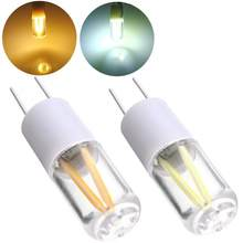 LED Spot Lampu AC/DC 12V 1.5W G4 COB LED Filament Spot Light Bulb + Hangat/ murni Putih Lampu LED(China)