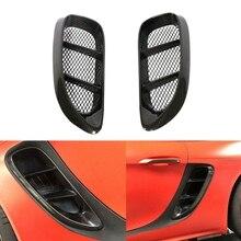 2 шт углеродное волокно сторона воздуха совок вентиляционные отверстия Впускной Для Porsche718 Boxster Cayman